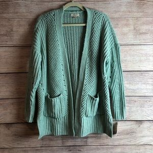 NWT Style & Co Mint green cardigan sweater PS L12